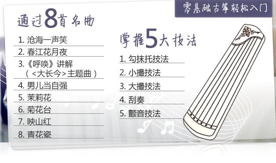 319元沪江网校古筝入门班!图片